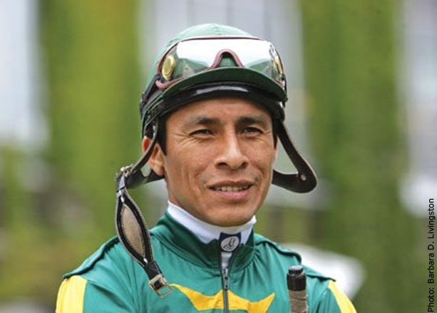 Thoroughbred racehorse jockey Edgar Prado