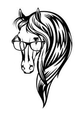 Horse with glasses - 1